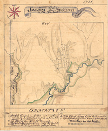 1766 map of Salem